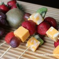 Fruit & Cheese Kabobs On A Stick