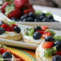 Sugar Cookie Fruit Pizzas :: Recipe on HoosierHomemade.com