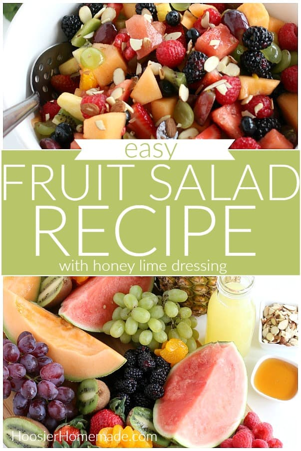 Fruit Salad Recipe with Honey Lime Dressing