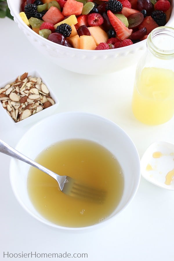 Fruit Salad Dressing in bowl