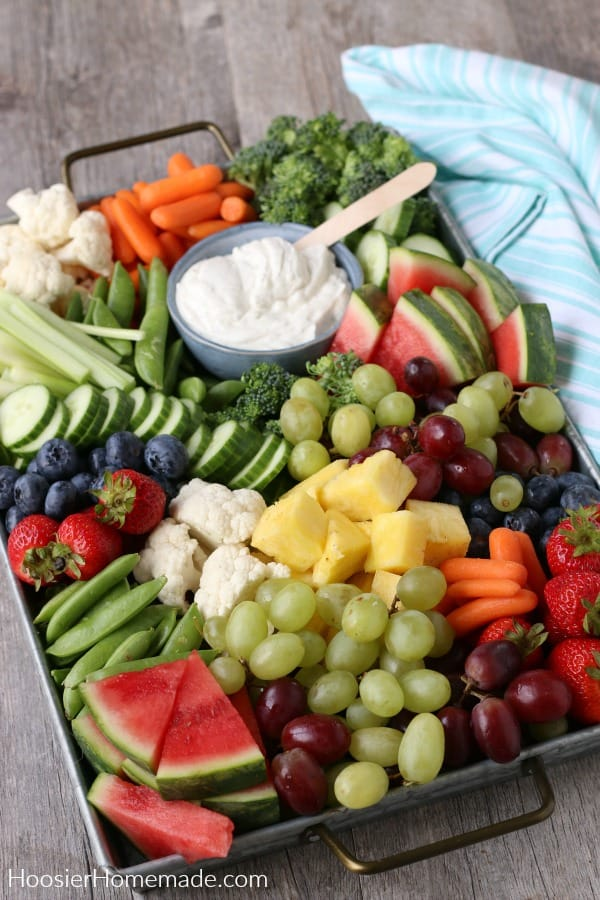 Charcuterie Board Fruit and Vegetables