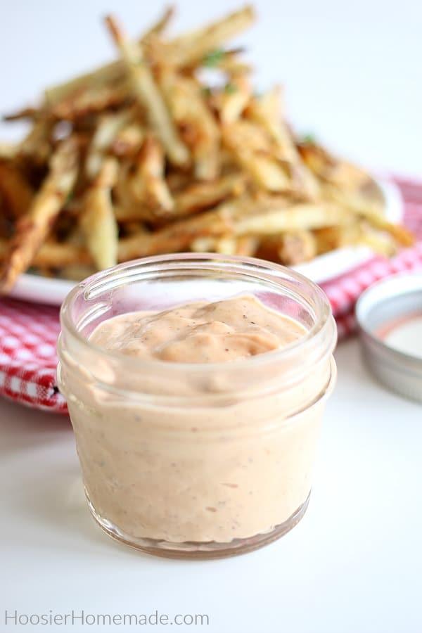 Fry Sauce in small mason jar