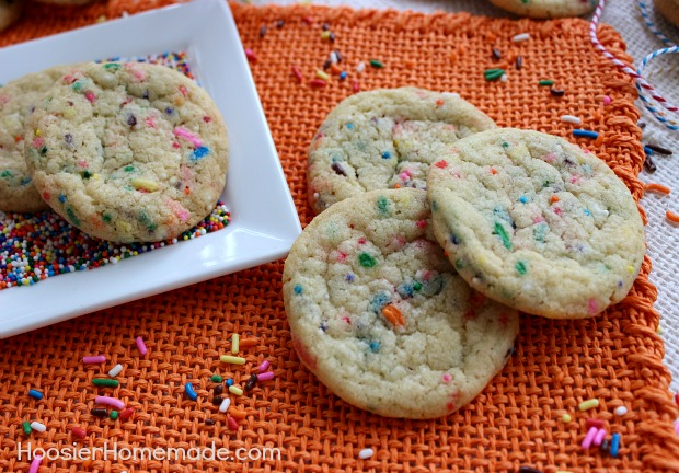 Homemade Funfetti Cookies :: Recipe on HoosierHomemade.com