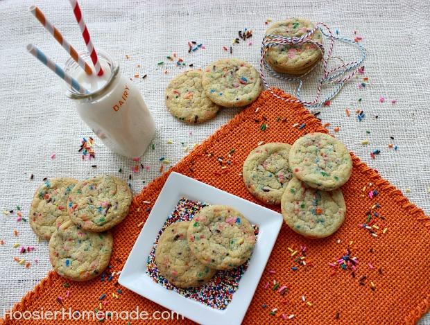 Homemade Funfetti Cookies :: Recipe on HoosierHomemade.com
