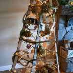 Funky Junk's treeless Christmas ladder tree.S