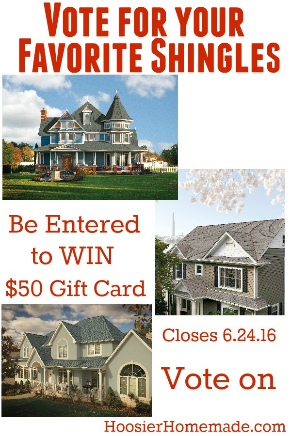 Help us choose which @gafroofing Shingles we should put on our She Shed! Cast your VOTE for your favorite shingles! And be entered to win a $50 Gift Card!