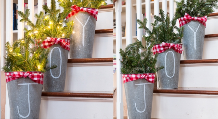 Galvanized Christmas Buckets 100 Days Of Homemade