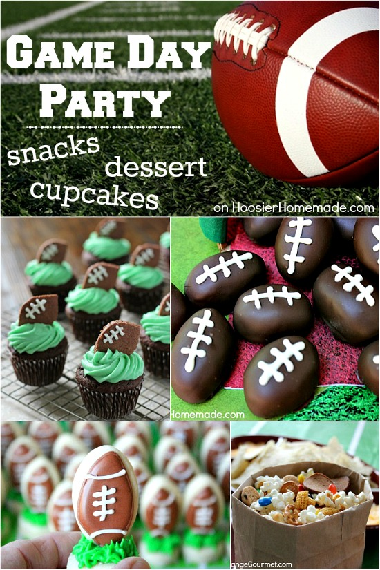 Are you ready for some football? These Game Day Snacks, Desserts, Cupcakes and more are sure to please the fans! Pin to your Recipe Board!