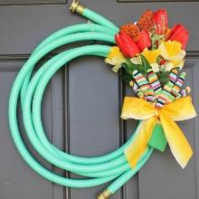 Garden Hose Wreath.220
