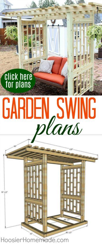 Garden Swing Plans for the Backyard Hoosier Homemade – Garden Swing Plans