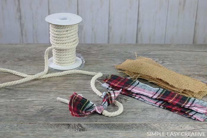 Making Fabric Garland