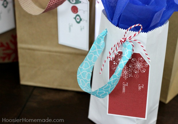 Gift Bags with Fabric Handles