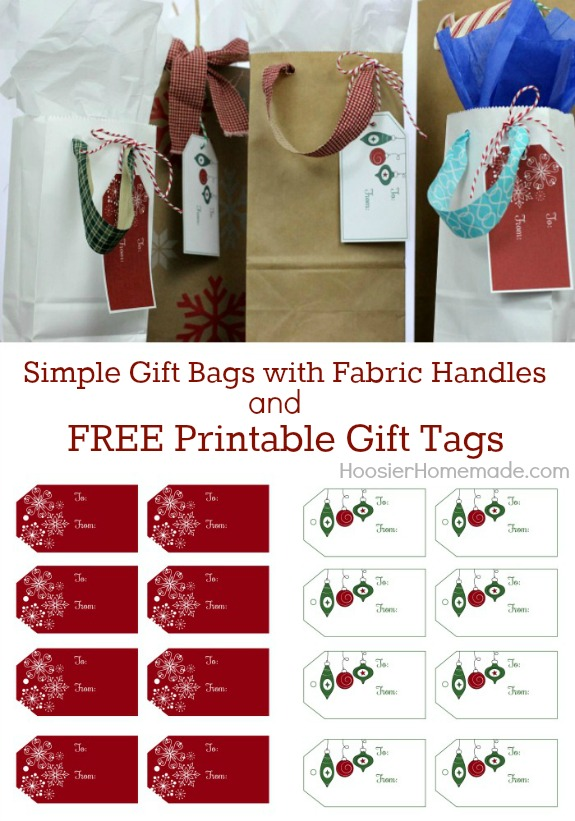 Give your gifts an extra special touch with these easy to make Simple Gift Bags and FREE Printable Gift Tags! Pin to your Christmas Board!