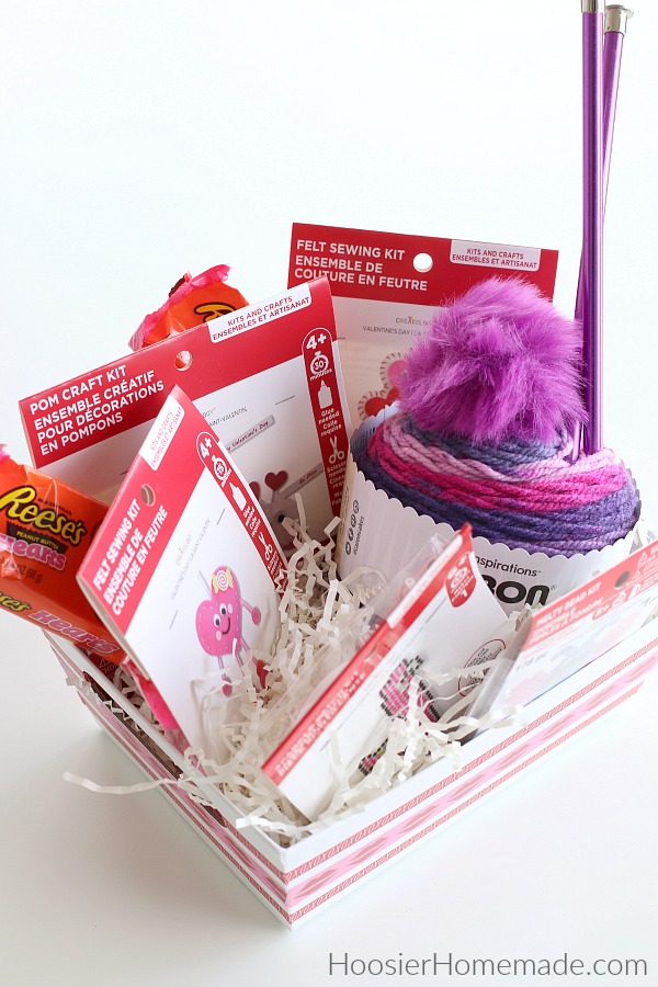 Craft supplies in Gift Basket