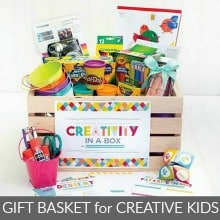 Gift Basket for Creative Kids