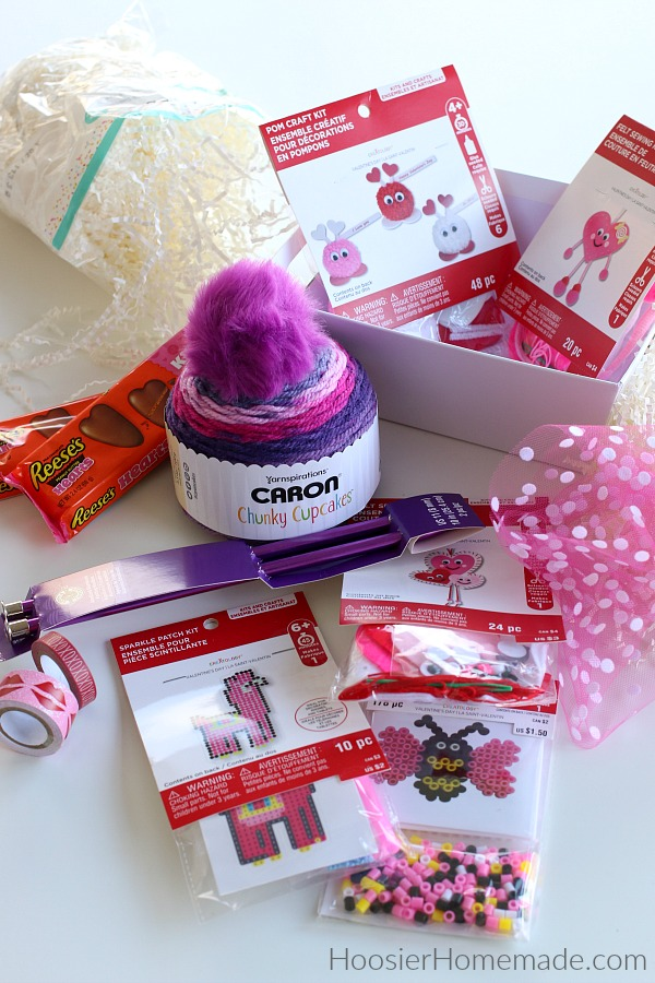 Supplies to make Gift Basket