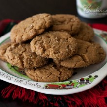 Soft Ginger Snap Cookies | Recipe on HoosierHomemade.com