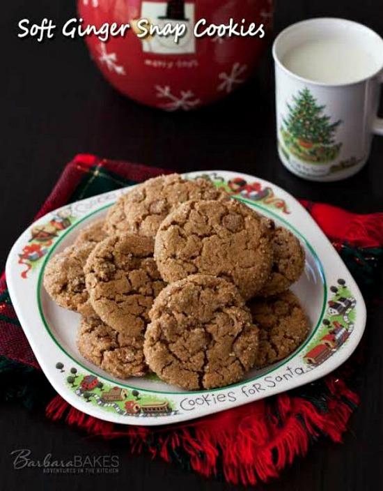 Soft Ginger Snap Cookies | Recipe on HoosierHomemade.com