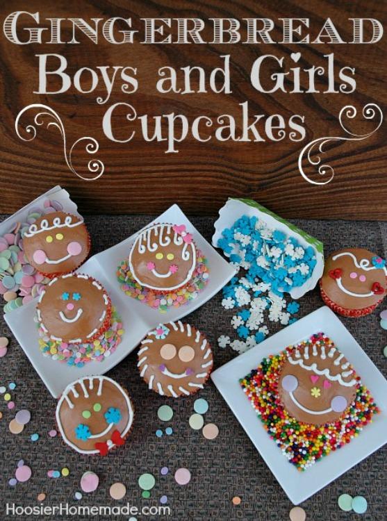 Christmas Cupcakes Gingerbread Boys And Girls Hoosier