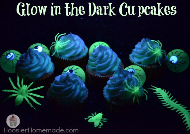 Glow in the Dark Cupcakes Recipes and Instructions on HoosierHomemade.com
