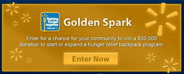 Golden Spark Hunger Relief Program from Walmart
