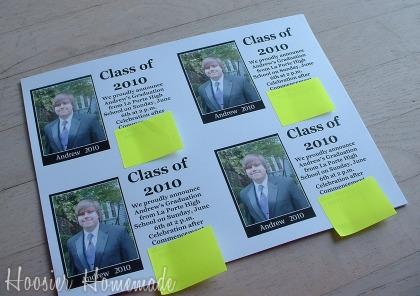 diy graduation invitations hoosier homemade