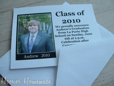Diy Graduation Invitations Hoosier Homemade