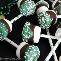 Grasshopper Marshmallow Pops | Recipe on HoosierHomemade.com