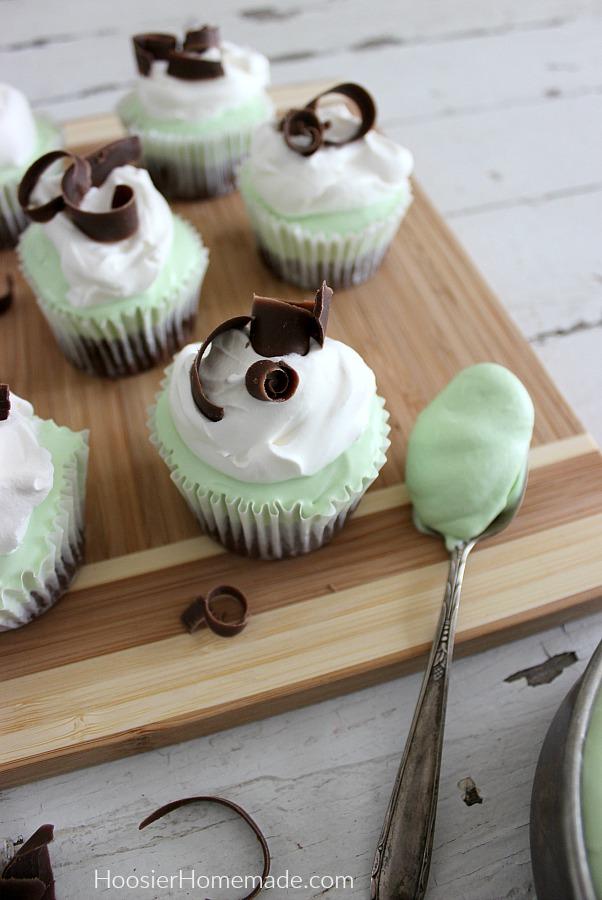 Grasshopper Pie Cupcakes