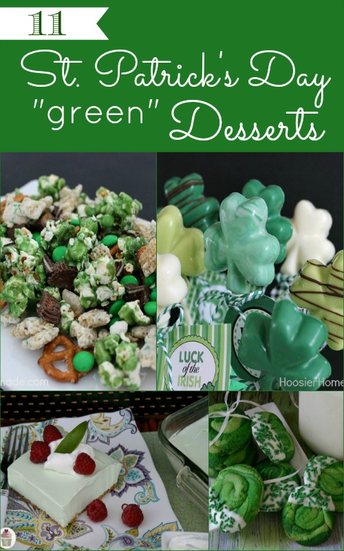 11 St. Patrick's Day Green Desserts on HoosierHomemade.com