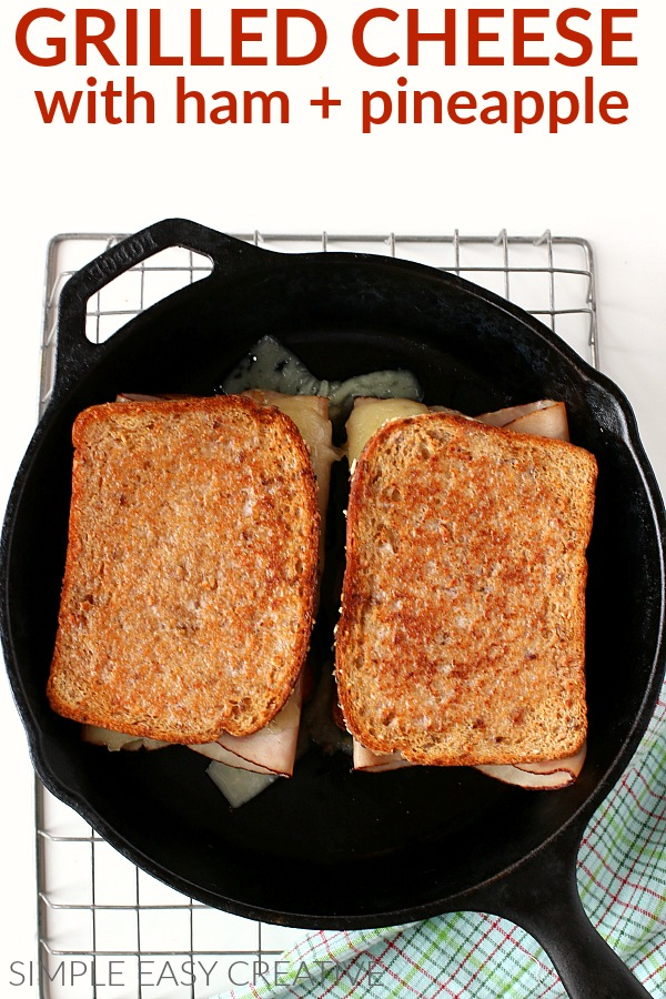 Grilled Cheese Recipe cooking in pan