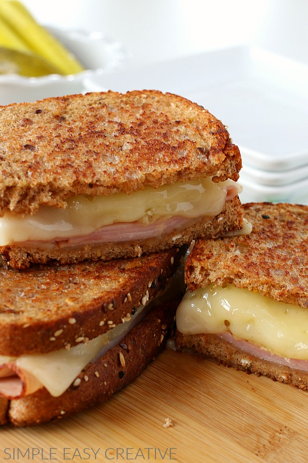 Grilled Cheese Recipe with Ham and Pineapple