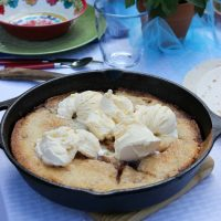 Grilled Peach & Blueberry Cobbler