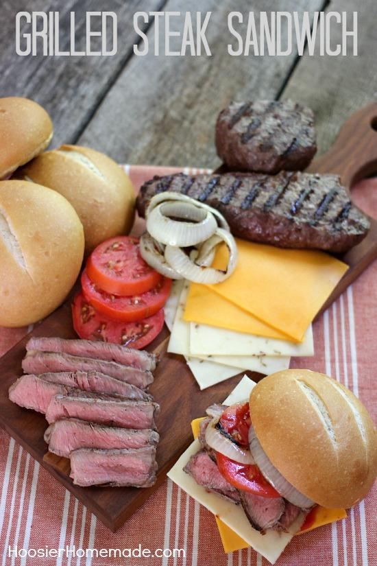 Grilled Steak Sandwich | Recipe on HoosierHomemade.com