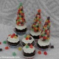 Gumdrop Tree Cupcakes :: Instructions on HoosierHomemade.com