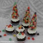 Gumdrop Tree Cupcakes :: Instructions on HoosierHomemade.com