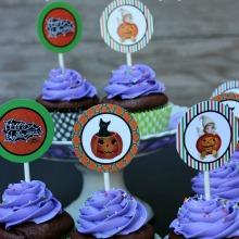 Halloween-Cupcake-Toppers.Vintage-Printable-Page