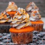 Halloween Cupcakes with Striped Frosting - October 2013