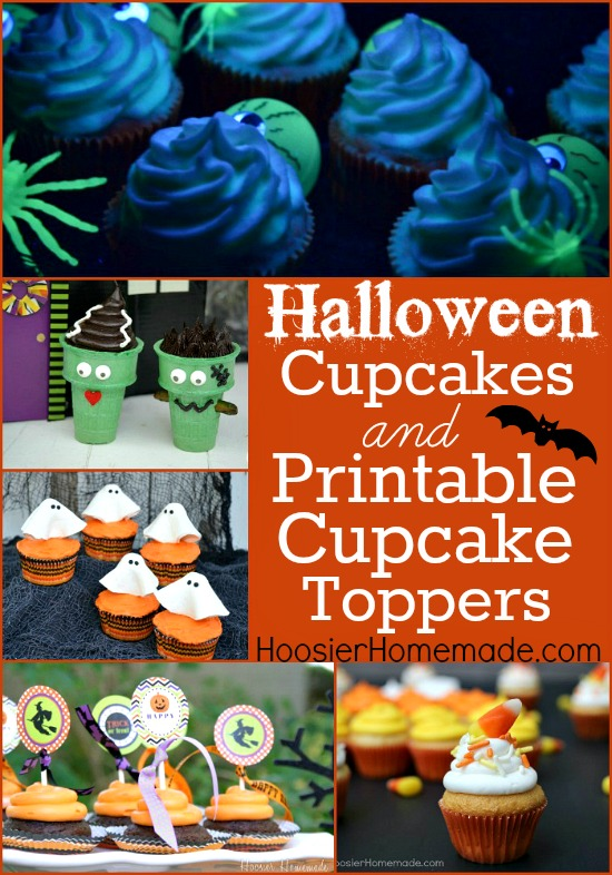 Halloween Cupcakes Toppers: Halloween Cupcakes And Printable Cupcake Toppers