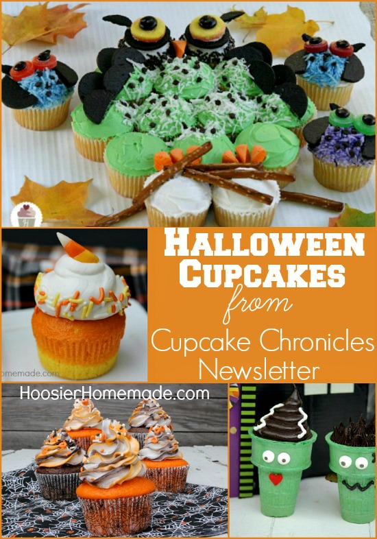 Halloween Cupcakes from Cupcake Chronicles Newsletter on HoosierHomemade.com
