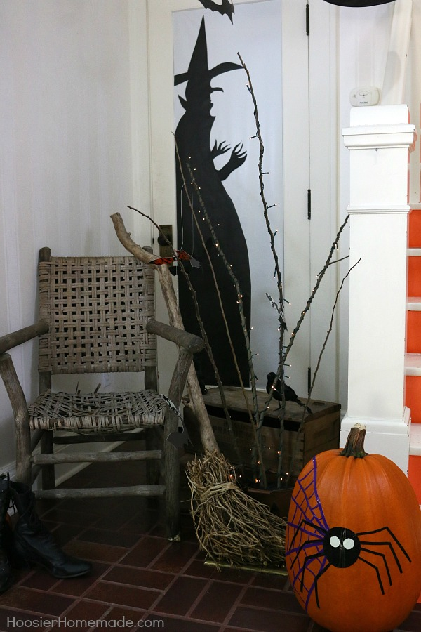 ghosts goblins bats and witches brew greet your guests and trick - Halloween Homemade Decorations