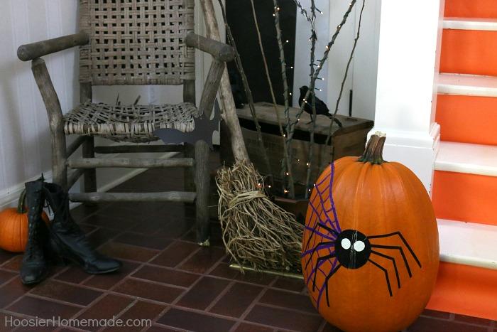 Decorate Halloween Pumpkin using Duck Tape