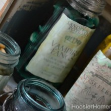 Ghoulish Potion Bottles for Halloween :: HoosierHomemade.com