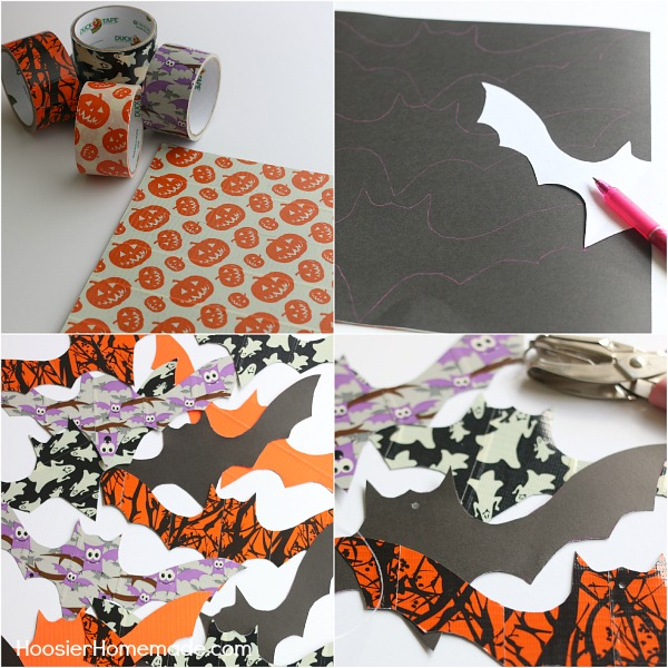 How to make hanging bats for Halloween