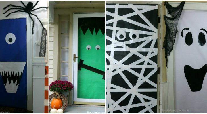 Diy Halloween Doors Hoosier Homemade