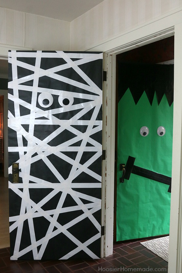 halloween doors create these fun and easy halloween decorations with a few simple supplies - Halloween Doors