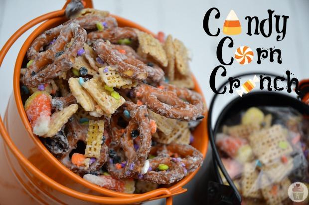 Candy Corn Crunch Halloween Mix :: HoosierHomemade.com