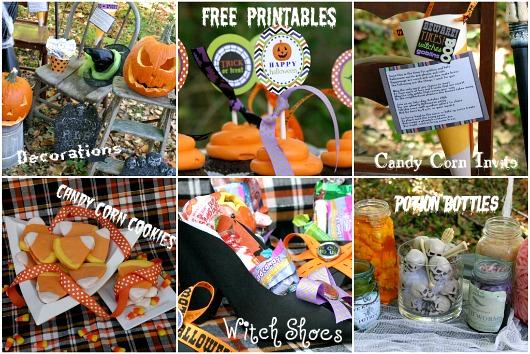 halloween party treats and decorations