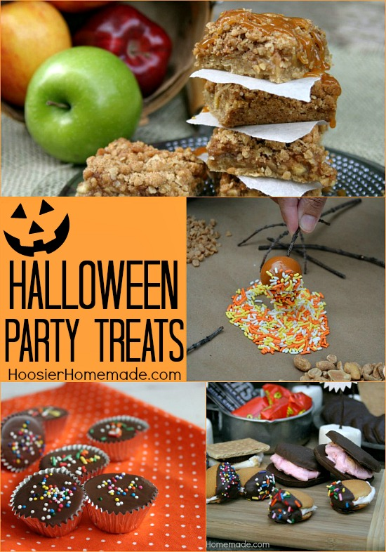 Halloween Party Treats on HoosierHomemade.com