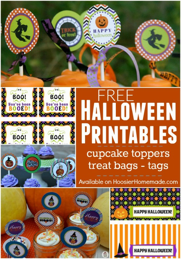 FREE Halloween Printables including Halloween Cupcake Toppers